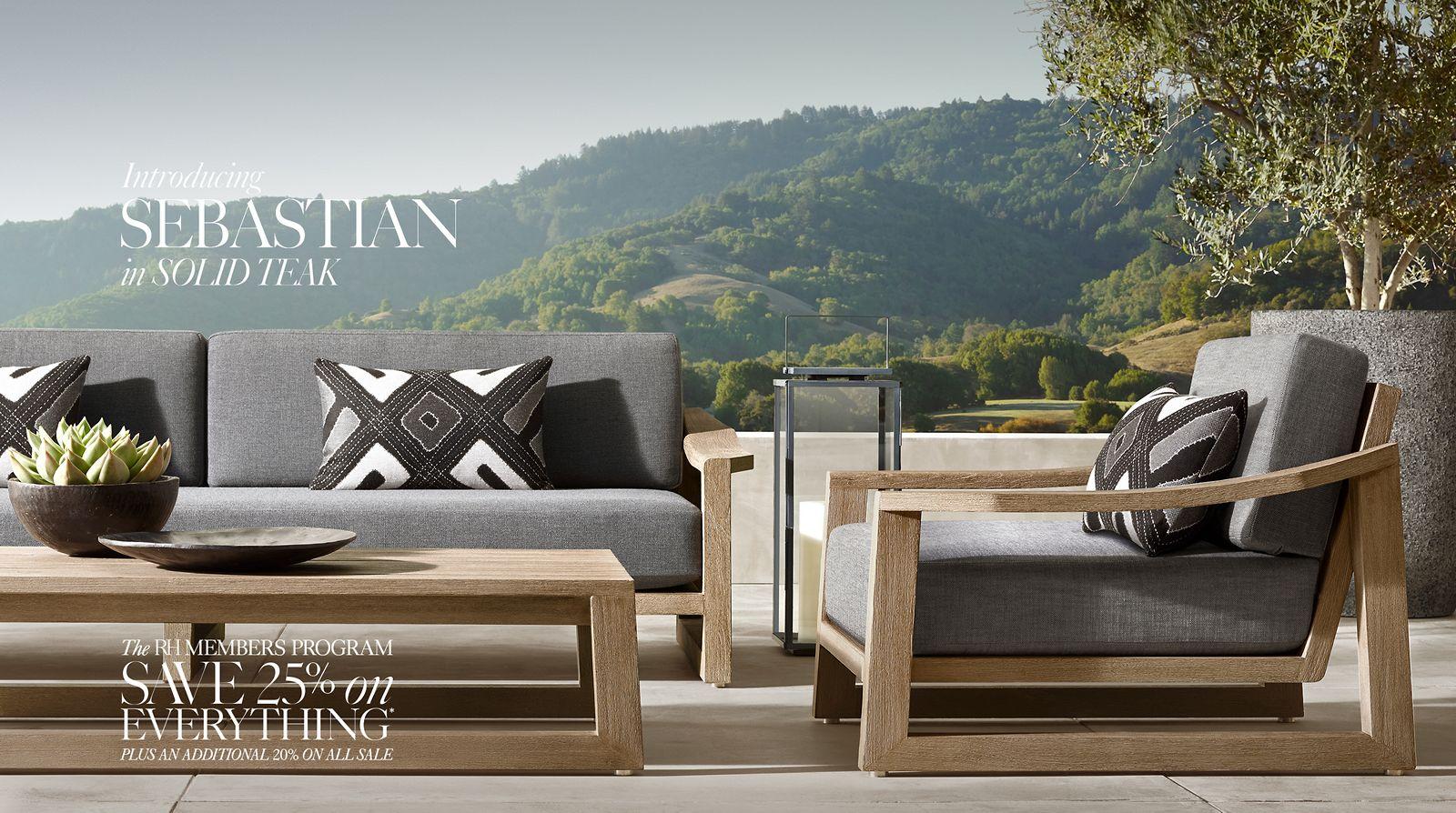 Designer Furniture Sale: RH Homepage