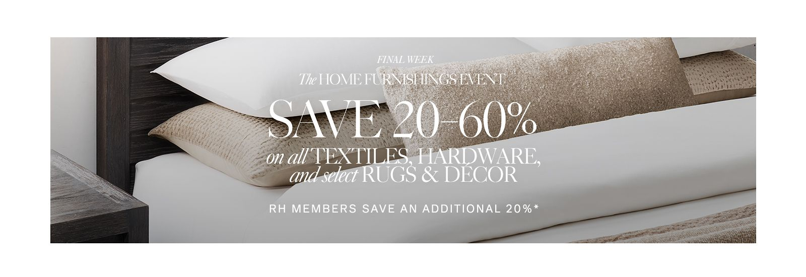 Save 20-60% at the Home Furnishings Event