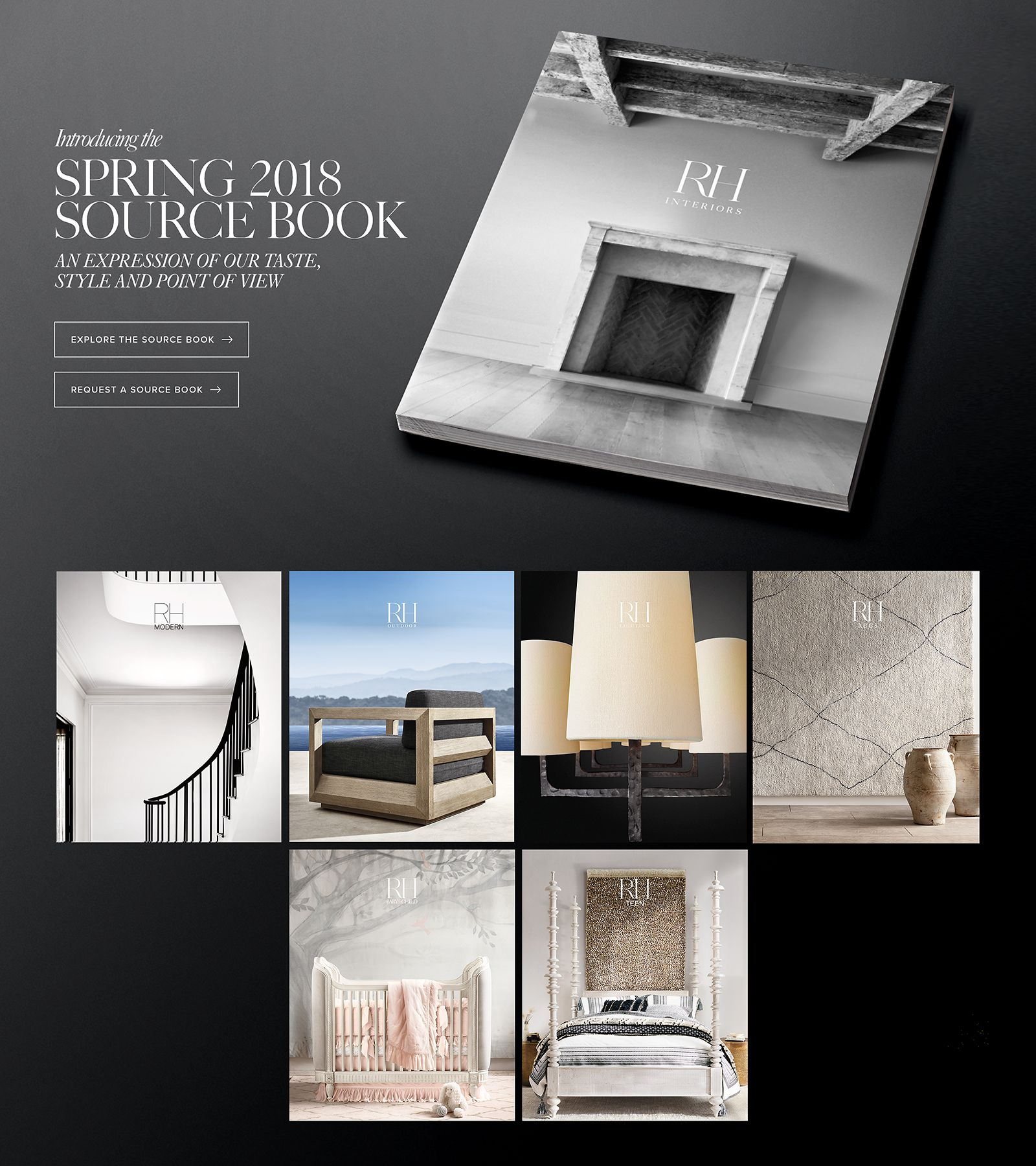 Introducing the Spring 2018 Source Book. An expression of our taste, style and point of view.