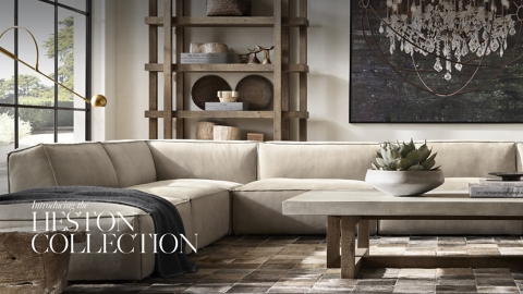 Introducing the Heston Collection RH Homepage