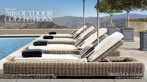 Explore our new 2018 RH Outdoor Collection