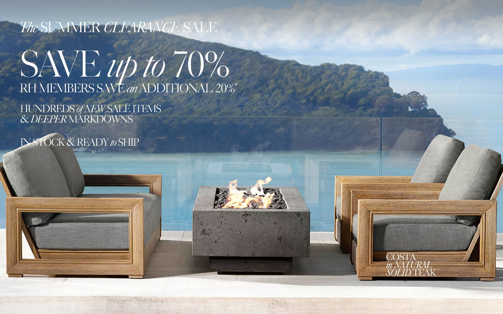 Summer Savings. Save up to 60% on hundreds of items. Shop the Costa Outdoor Collection.
