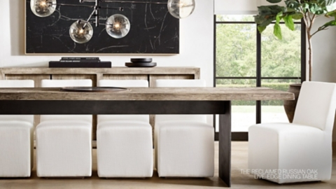 RH Modern. Explore The Live Edge Collection.