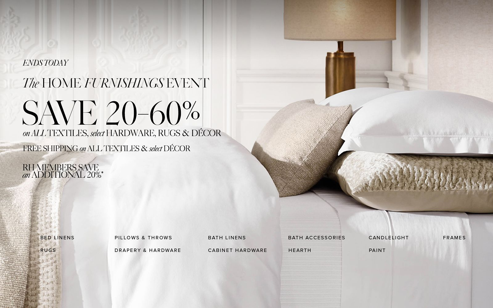 The Home Furnishings Event. Save 20-60%