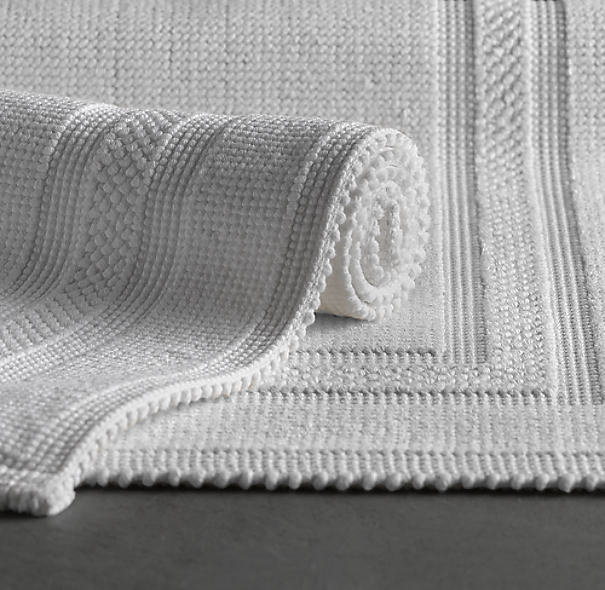 Awesome Iron Gate Bath Rug Set White And Grey  Transitional  Bath Mats