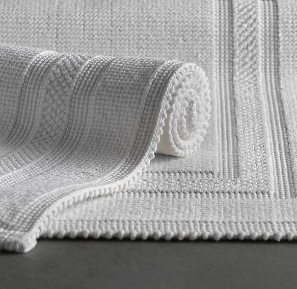 Cotton Woven Bath Rug