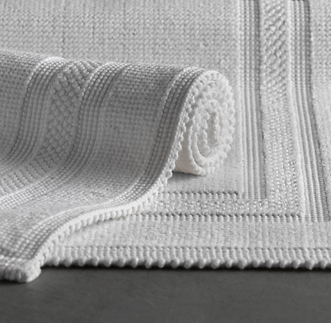 cotton bath rug collection | rh
