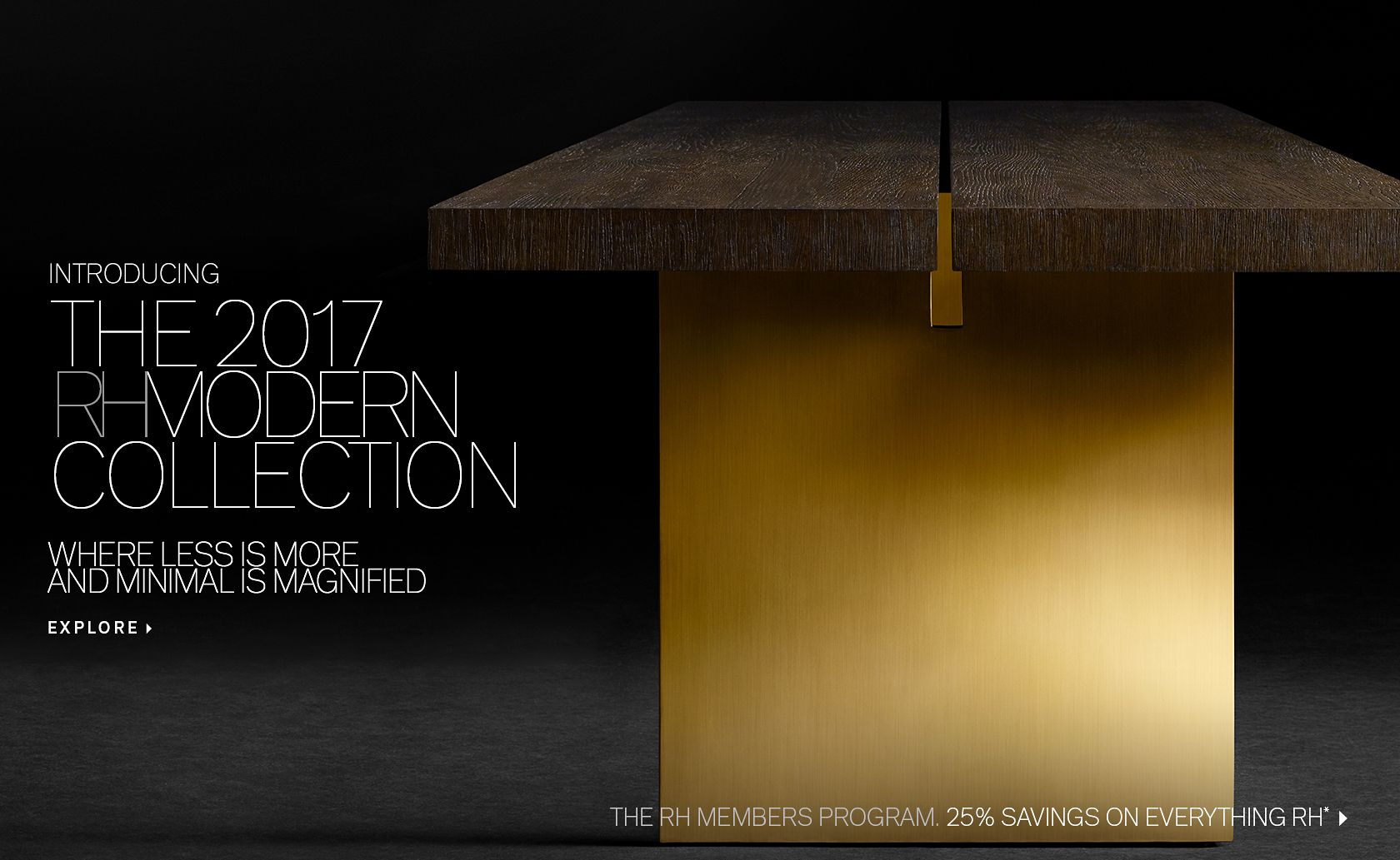 rh modern homepage - introducing the  rh modern collection where less is more and minimalis magnified