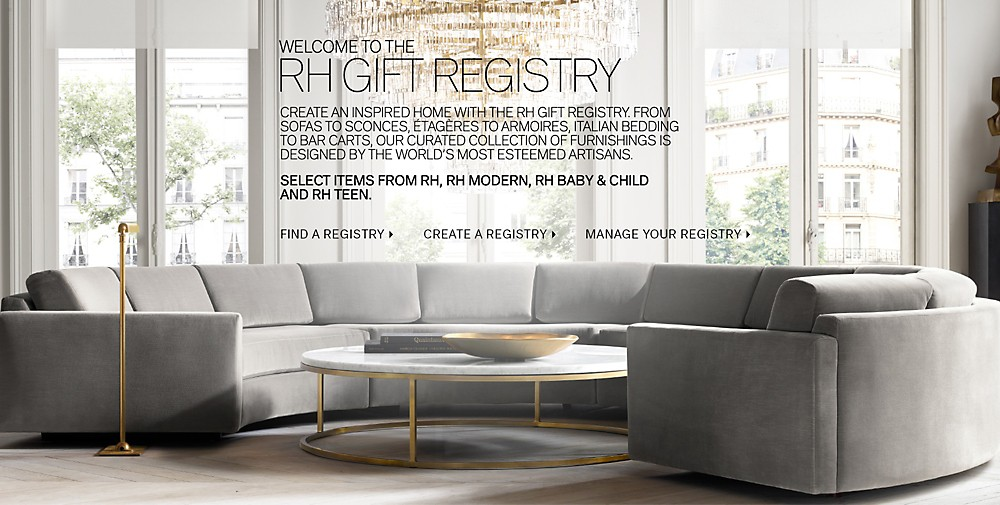 Gift registry home rh modern welcome to our registry rh baby child gift registry negle Image collections