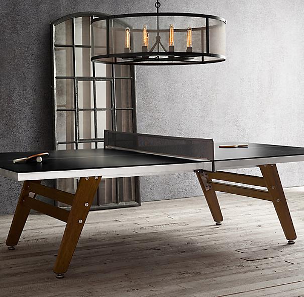 Restoration Hardware Warranty: Black Steel & Wood Table Tennis