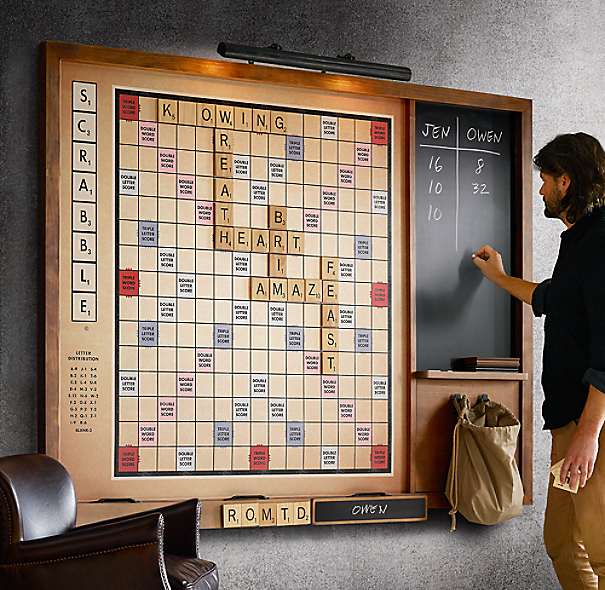 Giant wall scrabbler for Large letter scrabble game