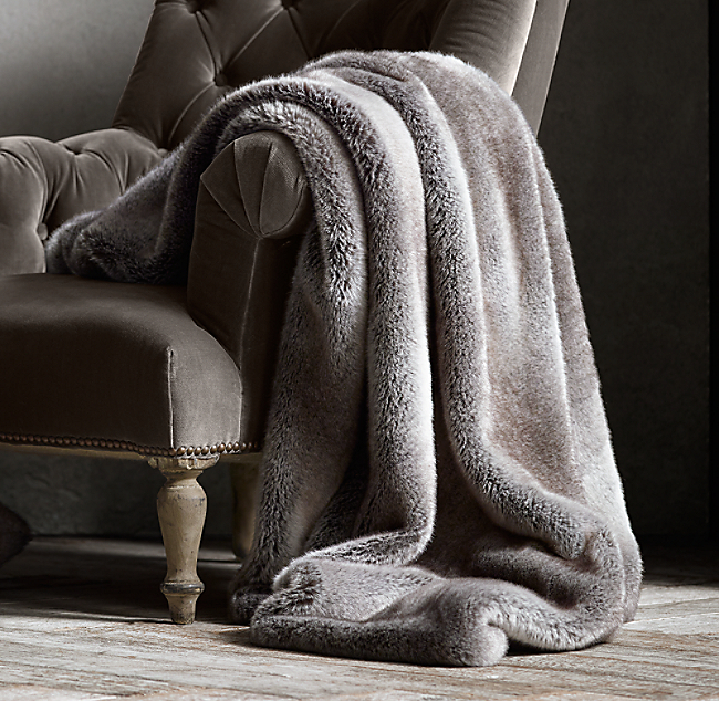 Luxe Faux Fur Throw. COLOR PREVIEW UNAVAILABLE. Alternate view 1 ... 60427812880c0