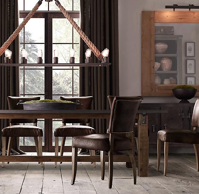 Reclaimed Wood  ZincTop Rectangular Dining Table - Zinc dining room table