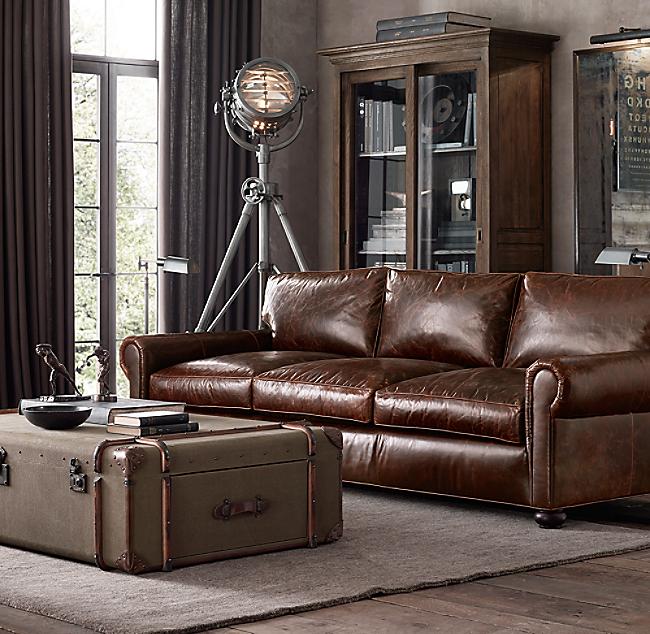 Original Lancaster Leather Sofa Color Preview Unavailable Alternate View 1 2 3 4