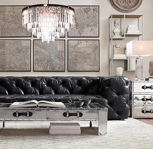 Soho Tufted Leather Sofa