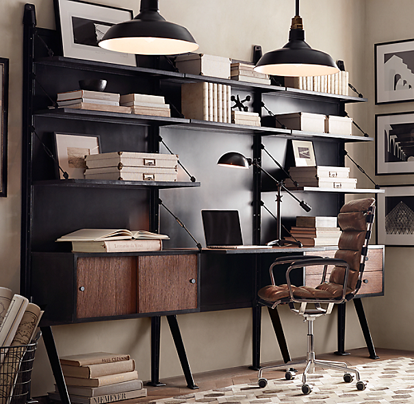1950s modular 4 drawer desk system - Industrial style mobel ...