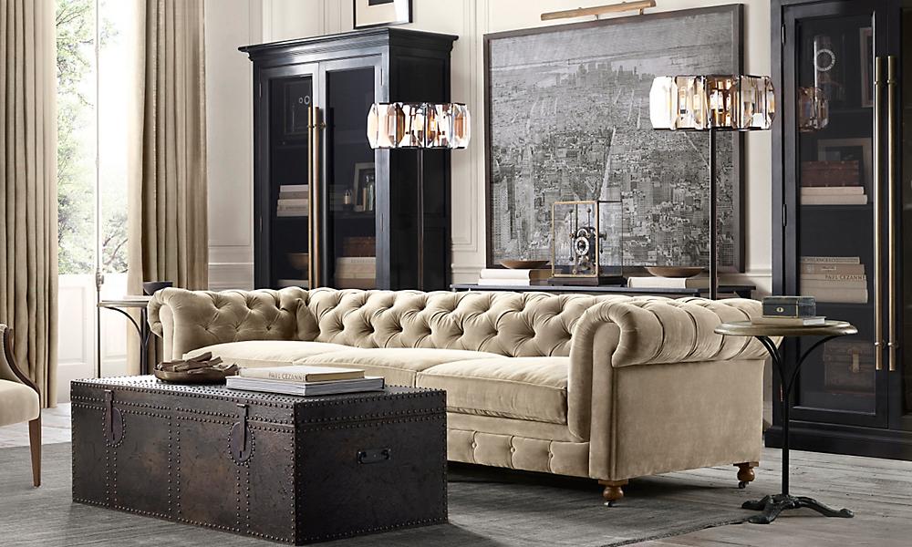 Small sharp living room joy studio design gallery best - Restoration hardware living room ideas ...