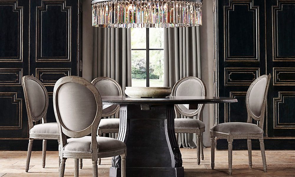 restoration hardware lighting dining room