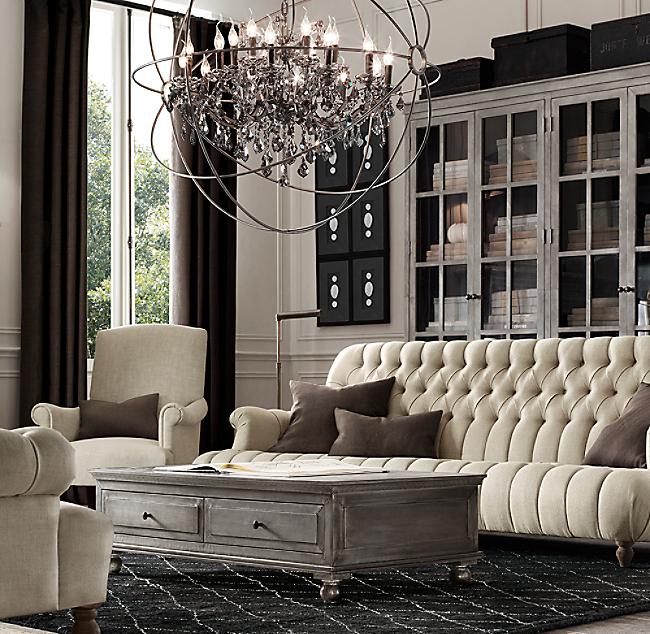 Napoleonic Tufted Upholstered Sofa - Tufted upholstered sofa