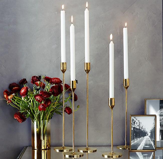Brass Candlesticks solid brass candlesticks - brass