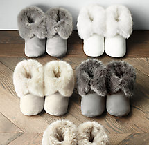 Ultra Faux Fur Booties