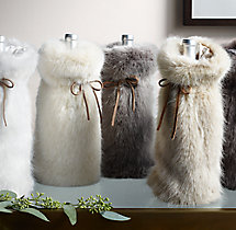 Ultra Faux Fur Wine Bag