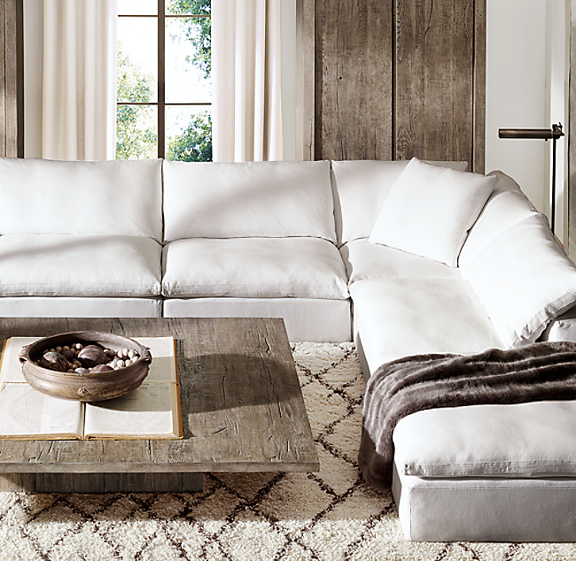 Restoration Hardware Sectional Sofas Cloud Modular