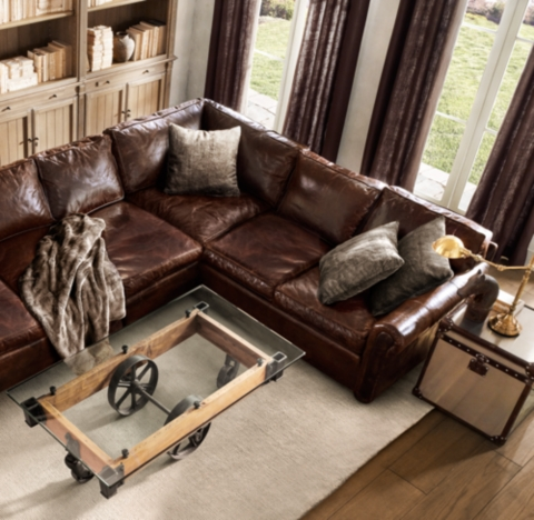 Original Lancaster Leather LSectional