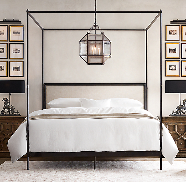 ... Iron Canopy Bed. COLOR PREVIEW UNAVAILABLE. Click to Zoom