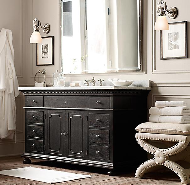 Bathroom Vanity Lights Restoration Hardware toscane upholstered nailhead stool