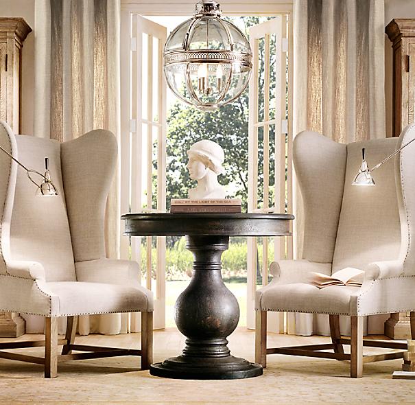 Pedestal Foyer Table : Vintage foyer pedestal table