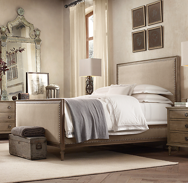 Bedroom Sets Restoration Hardware maison upholstered bed with footboard