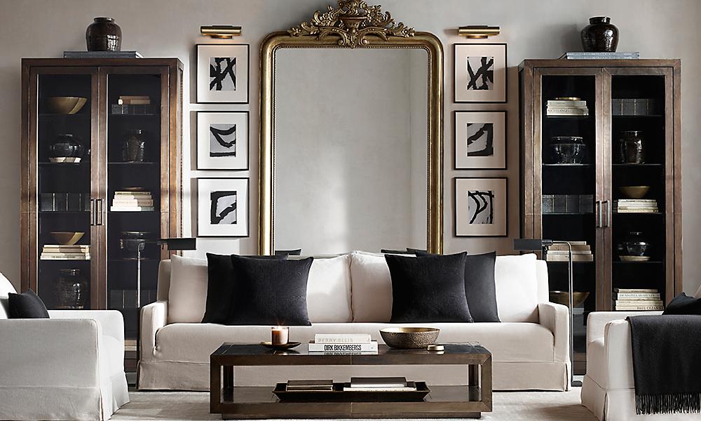 rooms rh. Black Bedroom Furniture Sets. Home Design Ideas