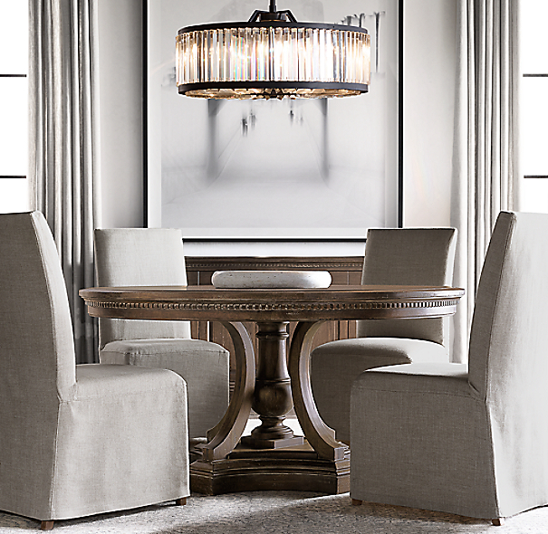 Round Dining Room Tables For 12: St. James Round Dining Table
