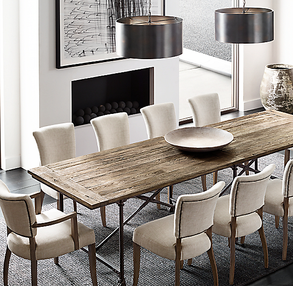 restoration hardware dining table Flatiron Rectangular Dining Table restoration hardware dining table