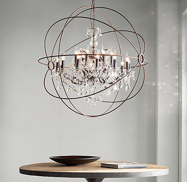 Click to Zoom - Foucault's Orb Chandelier 32