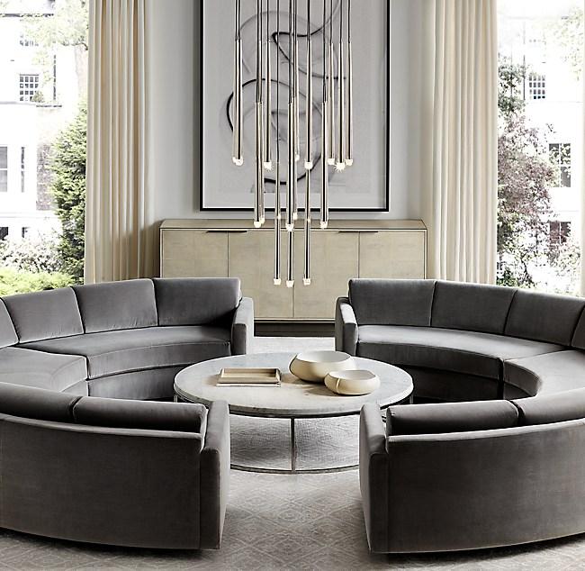 Awe Inspiring Curve Semicircle Sectional Machost Co Dining Chair Design Ideas Machostcouk