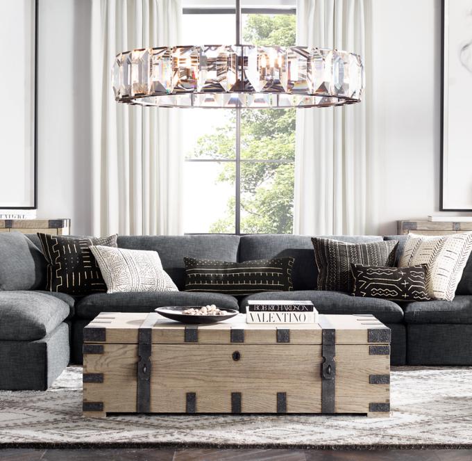 Preconfigured Cloud Modular Slipcovered Sofa