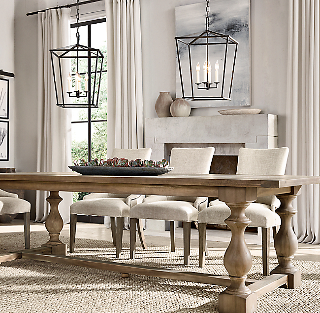 restoration hardware monastery table. Black Bedroom Furniture Sets. Home Design Ideas