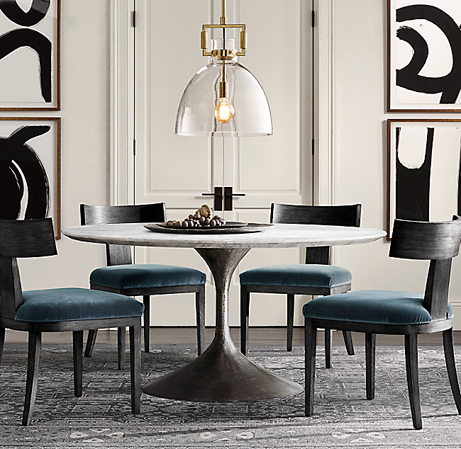 Restoration Hardware Aero Round Dining Table Dining Tables - Restoration hardware marble dining table