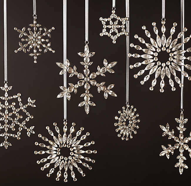 Victorian glass snowflake mini ornaments set of 4 click to zoom mozeypictures Choice Image