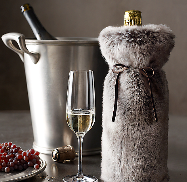 Faux Fur Wine Bottle Gift Bags - Image Collections Bottle 42015386e4
