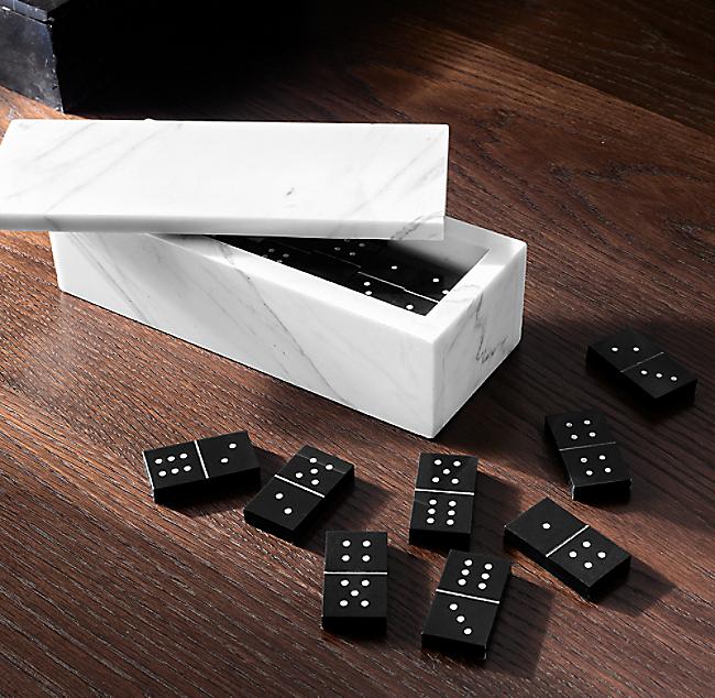 Marble Dominoes Set, Glass Domino Set