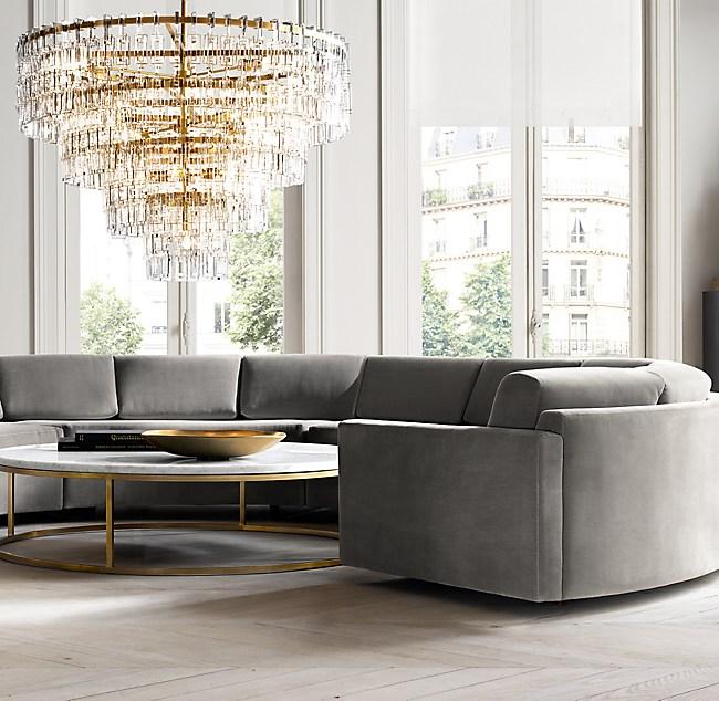 Excellent Curve Semicircle Sectional Machost Co Dining Chair Design Ideas Machostcouk