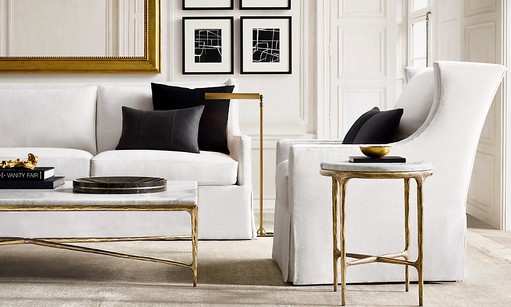 restoration hardware living room Rooms | RH restoration hardware living room