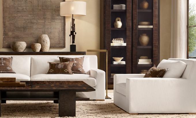 restoration hardware living room Rooms | RH restoration hardware living room