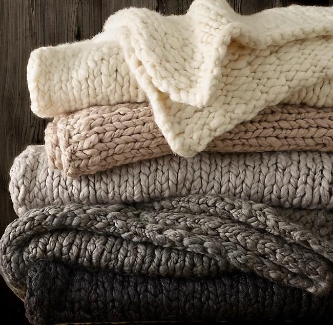5c5234d9d0b Chunky Hand-Knit Throw