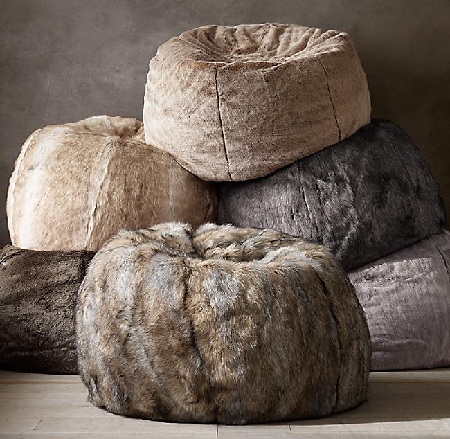 Stupendous Luxe Faux Fur Bean Bag Alphanode Cool Chair Designs And Ideas Alphanodeonline