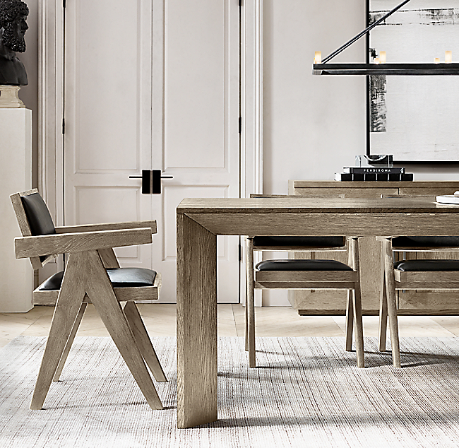 Arles Rectangular Extension Dining Table