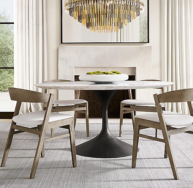 Aero Marble Round Dining Table - Restoration Hardware